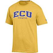 Champion Men's East Carolina Pirates Gold T-Shirt