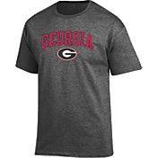 Champion Men's Georgia Bulldogs Grey Promo Jersey T-Shirt