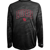 Champion Men's Houston Cougars Black Chrome Long Sleeve T-Shirt