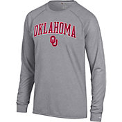 Champion Men's Oklahoma Sooners Grey Long Sleeve Shirt