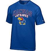 Champion Men's Kansas Jayhawks Grey T-Shirt