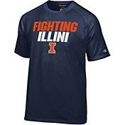Champion Men's Illinois Fighting Illini Blue Football Slogan T-Shirt