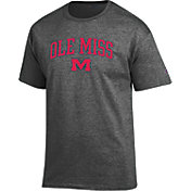 Champion Men's Ole Miss Rebels Grey Promo Jersey T-Shirt
