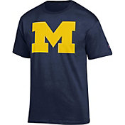 Champion Men's Michigan Wolverines Blue 'M' T-Shirt