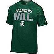 Champion Men's Michigan State Spartans Green Football Slogan T-Shirt