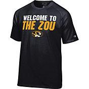 Champion Men's Missouri Tigers Football Slogan Black T-Shirt