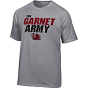 Champion Men's South Carolina Gamecocks Grey Football Slogan T-Shirt