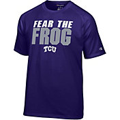 Champion Men's TCU Horned Frogs Purple Football Slogan T-Shirt