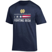 Champion Men's Notre Dame Fighting Irish Navy American Flag Logo T-Shirt
