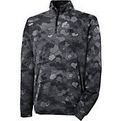 Champion Men's Tech Fleece Printed Quarter Zip Long Sleeve Shirt