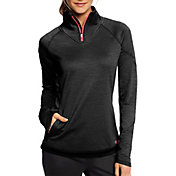 Champion Women's Tech Fleece Quarter Zip Long Sleeve Shirt