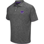 Chiliwear Men's Kansas State Wildcats Grey Grid Performance Polo