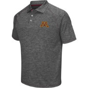 Chiliwear Men's Minnesota Golden Gophers Grey Grid Performance Polo