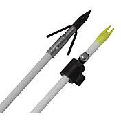Cajun Piranha White Fiberglass Bowfishing Arrow with Slide