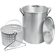 Cookout Supply 30 Quart Aluminum Pot with Basket