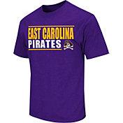 Colosseum Athletics Men's East Carolina Pirates Purple Dual-Blend T-Shirt