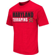 Colosseum Athletics Men's Maryland Terrapins Red Dual-Blend T-Shirt