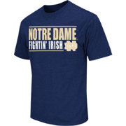 Colosseum Athletics Men's Notre Dame Fighting Irish Navy Dual-Blend T-Shirt