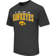 Colosseum Athletics Men's Iowa Hawkeyes Grey Dual-Blend T-Shirt