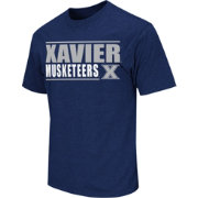 Colosseum Athletics Men's Xavier Musketeers Blue Dual-Blend T-Shirt