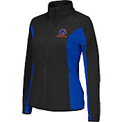 Colosseum Athletics Women's Boise State Broncos Black/Blue Alpine Quilted Jacket