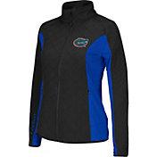Colosseum Athletics Women's Florida Gators Black/Blue Alpine Quilted Full-Zip Jacket