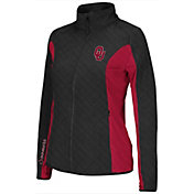 Colosseum Athletics Women's Oklahoma Sooners Black/Crimson Alpine Quilted Full-Zip Jacket