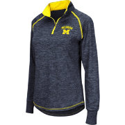 Colosseum Athletics Women's Michigan Wolverines Blue Bikram Quarter-Zip