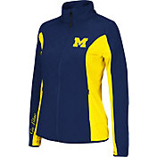 Colosseum Athletics Women's Michigan Wolverines Blue/Maize Alpine Quilted Jacket