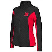 Colosseum Athletics Women's Nebraska Cornhuskers Black/Scarlet Alpine Quilted Jacket