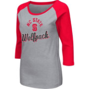 Colosseum Athletics Women's NC State Wolfpack Grey Raglan T-Shirt