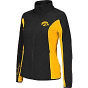Colosseum Athletics Women's Iowa Hawkeyes Black/Gold Alpine Quilted Jacket