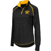 Colosseum Athletics Women's Iowa Hawkeyes Black Bikram Quarter-Zip