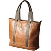 Carolina Sewn Clemson Tigers Westbridge Leather Tote