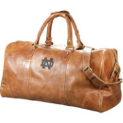 Carolina Sewn Notre Dame Fighting Irish Westbridge Large Leather Duffel