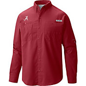 Columbia Men's Alabama Crimson Tide Crimson Tamiami Long Sleeve Shirt