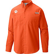 Columbia Men's Clemson Tigers Orange Tamiami Long Sleeve Shirt