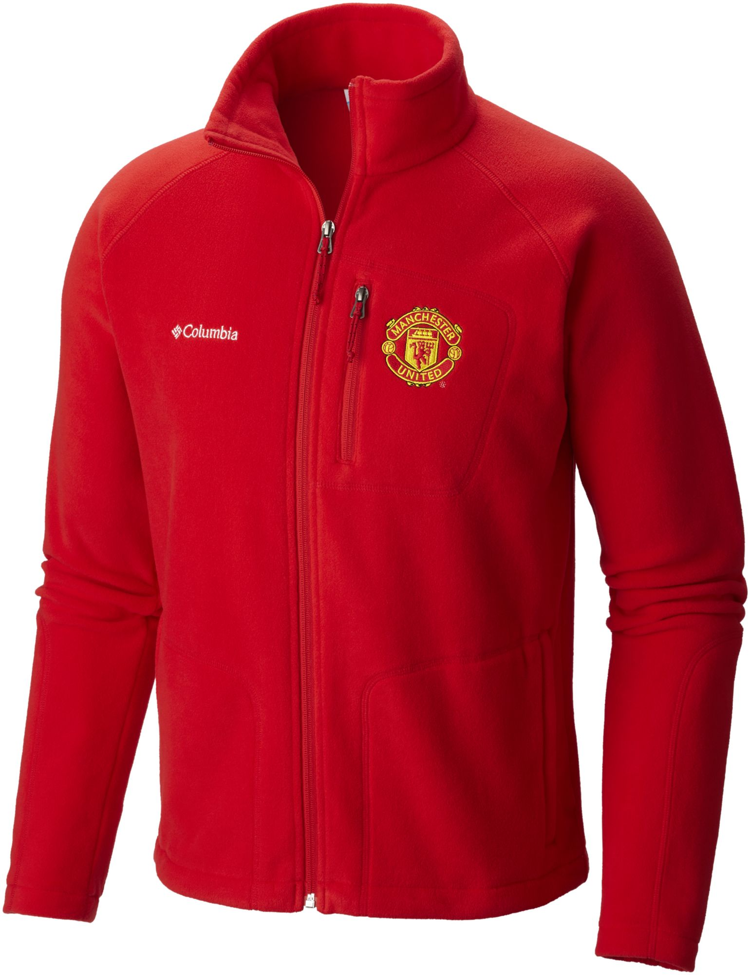 Columbia Men's Manchester United Fast Trek Red Full-Zip Fleece ...