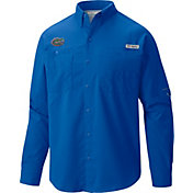 Columbia Men's Florida Gators Blue Tamiami Long Sleeve Shirt