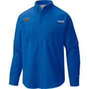 Columbia Men's Florida Gators Blue Tamiami Long Sleeve Shirt