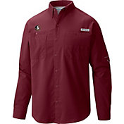 Columbia Men's Florida State Seminoles Garnet Tamiami Long Sleeve Shirt