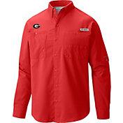 Columbia Men's Georgia Bulldogs Red Tamiami Long Sleeve Shirt