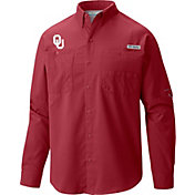 Columbia Men's Oklahoma Sooners Crimson Tamiami Long Sleeve Shirt