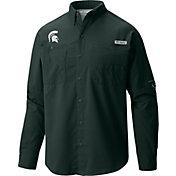 Columbia Men's Michigan State Spartans Green Tamiami Long Sleeve Shirt
