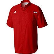 Columbia Men's Atlanta Braves Red Tamiami Performance Short Sleeve Shirt