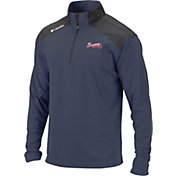 Columbia Men's Atlanta Braves Top Of The Green Navy Quarter-Zip Performance Pullover