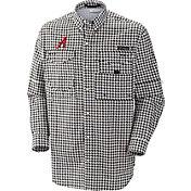 Columbia Men's Alabama Crimson Tide Houndstooth Super Bonehead Long Sleeve Shirt
