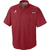 Columbia Men's Alabama Crimson Tide Crimson Tamiami Performance Shirt