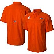 Columbia Men's Clemson Tigers Orange Low Drag Offshore Performance Shirt