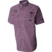Columbia Men's Florida State Seminoles Gingham Checkered Super Bonehead Shirt